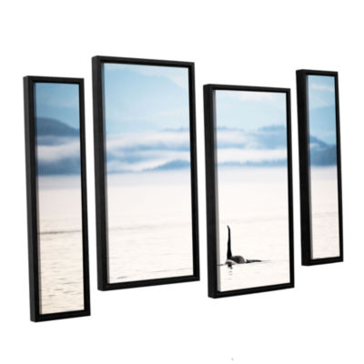Brushstone Orcha Seascape 4-pc. Floater Framed Staggered Canvas Wall Art