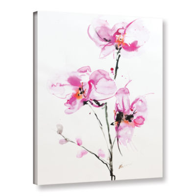 Brushstone Orchid 1 Gallery Wrapped Canvas Wall Art