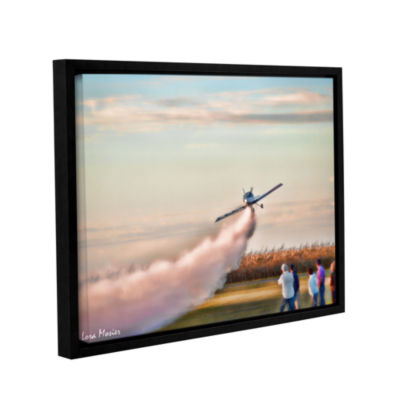 Brushstone Lakefront Airport Gallery Wrapped Floater-Framed Canvas Wall Art