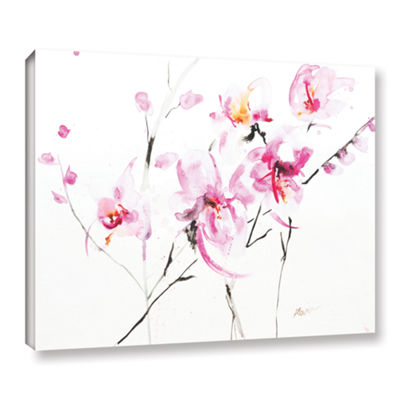 Brushstone Orchid 3 Gallery Wrapped Canvas Wall Art