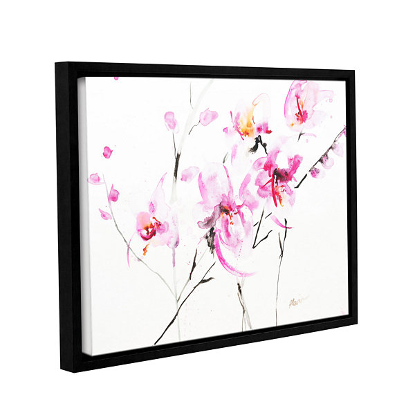 Brushstone Orchid 3 Gallery Wrapped Floater-FramedCanvas Wall Art