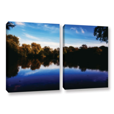 Brushstone Lakeview 2-pc. Gallery Wrapped Canvas Wall Art