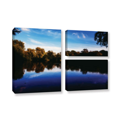 Brushstone Lakeview 3-pc. Flag Gallery Wrapped Canvas Wall Art