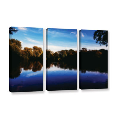 Brushstone Lakeview 3-pc. Gallery Wrapped Canvas Wall Art