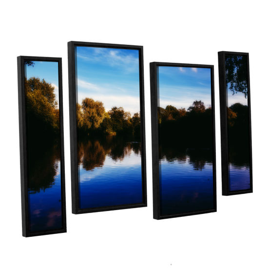 Brushstone Lakeview 4-pc. Floater Framed Staggered Canvas Wall Art