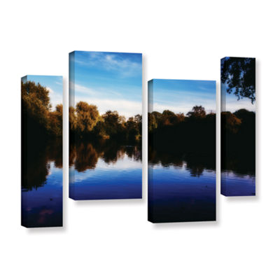 Brushstone Lakeview 4-pc. Gallery Wrapped Staggered Canvas Wall Art