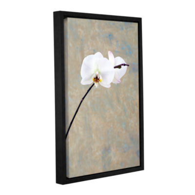 Brushstone Orchid Blossoms Gallery Wrapped Floater-Framed Canvas Wall Art