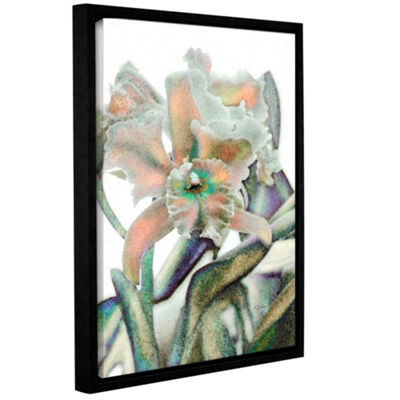 Brushstone Orchid Impression Gallery Wrapped Floater-Framed Canvas Wall Art