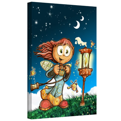 Brushstone Lamp Gallery Wrapped Canvas Wall Art