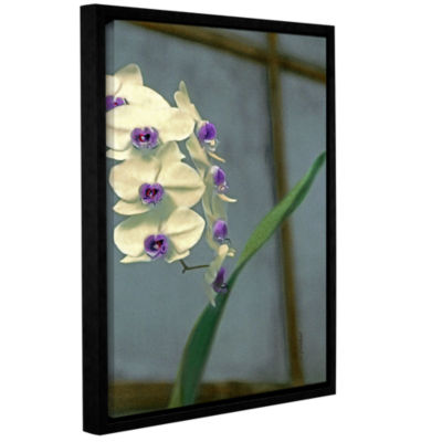 Brushstone Orchid In Window Gallery Wrapped Floater-Framed Canvas Wall Art