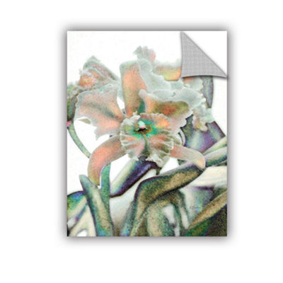 Brushstone Orchid In Window Removable Wall Decal