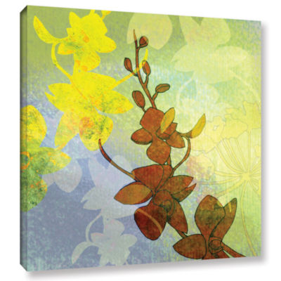 Brushstone Orchid Shadow Gallery Wrapped Canvas Wall Art