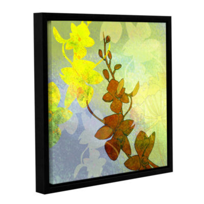 Brushstone Orchid Shadow Gallery Wrapped Floater-Framed Canvas Wall Art