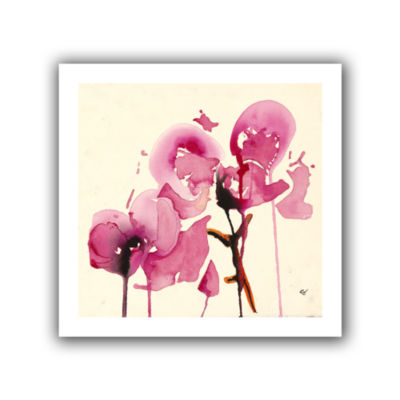 Brushstone Orchids I Canvas Wall Art