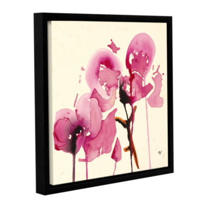Brushstone Orchids I Gallery Wrapped Floater-Framed Canvas Wall Art