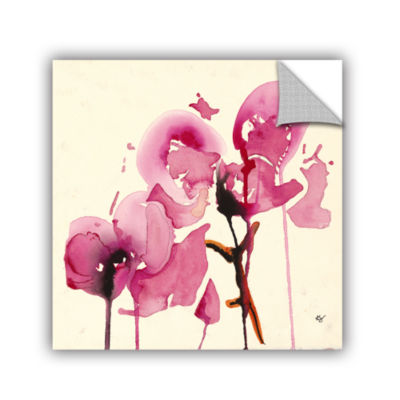 Brushstone Orchids I Removable Wall Decal