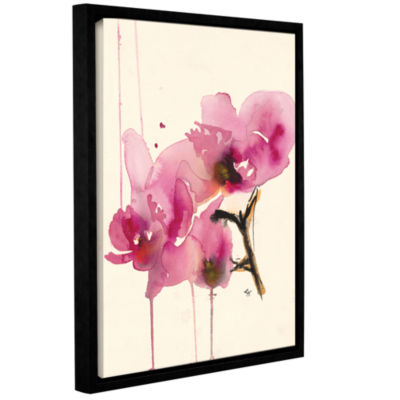 Brushstone Orchids II Gallery Wrapped Floater-Framed Canvas Wall Art