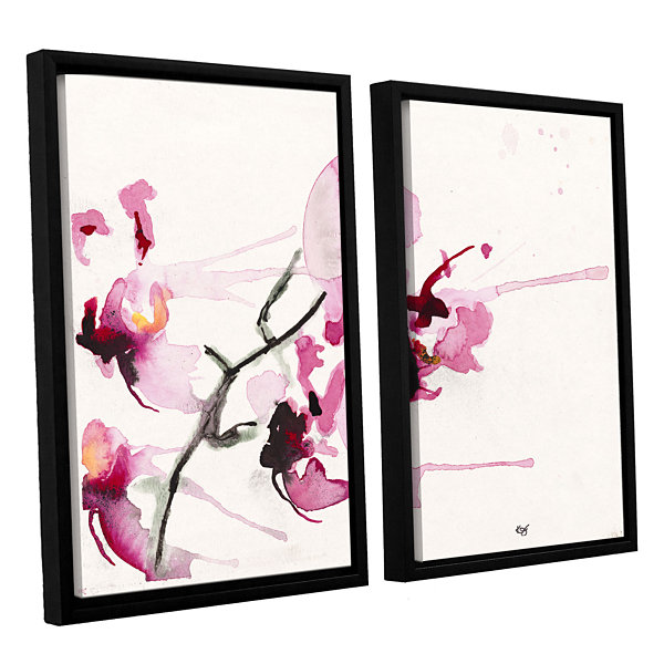 Brushstone Orchids III 2-pc. Floater Framed CanvasWall Art