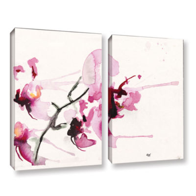 Brushstone Orchids III 2-pc. Gallery Wrapped Canvas Wall Art