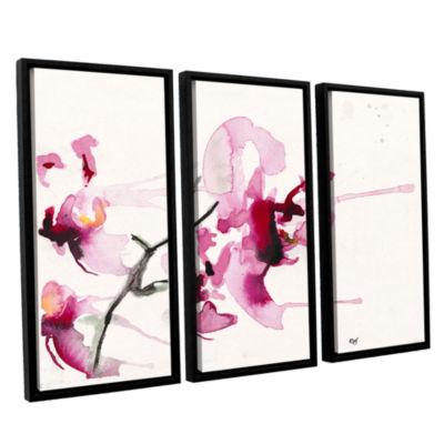 Brushstone Orchids III 3-pc. Floater Framed CanvasWall Art