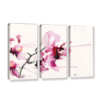 Brushstone Orchids III 3-pc. Gallery Wrapped Canvas Wall Art