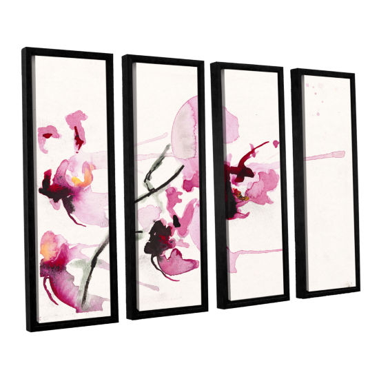 Brushstone Orchids III 4-pc. Floater Framed Canvas Wall Art
