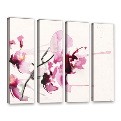 Brushstone Orchids III 4-pc. Gallery Wrapped Canvas Wall Art