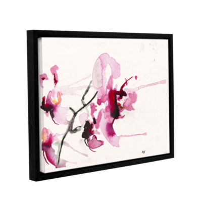 Brushstone Orchids III Gallery Wrapped Floater-Framed Canvas Wall Art