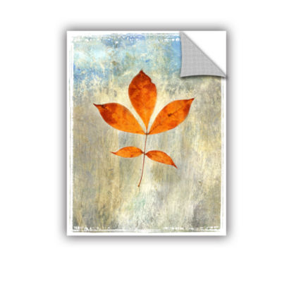 Brushstone Leaf I Removable Wall Decal