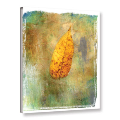 Brushstone Leaf II Gallery Wrapped Canvas Wall Art