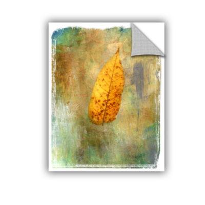 Brushstone Leaf II Removable Wall Decal