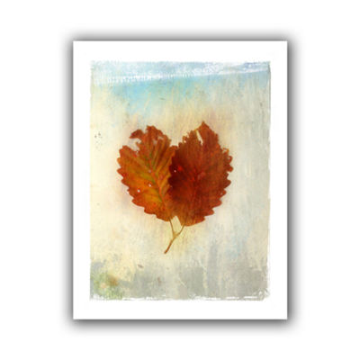 Brushstone Leaf III Canvas Wall Art