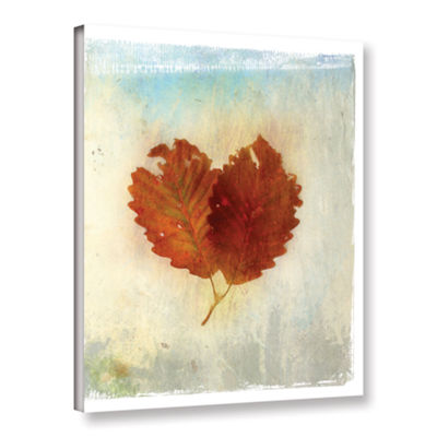 Brushstone Leaf III Gallery Wrapped Canvas Wall Art