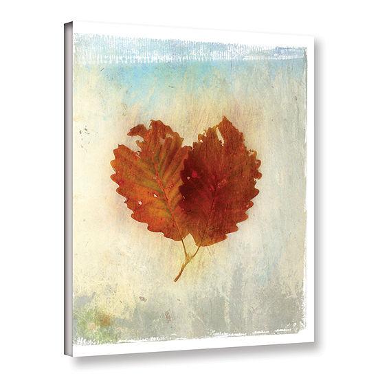 Brushstone Leaf III Gallery Wrapped Canvas Wall Art