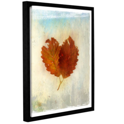 Brushstone Leaf III Gallery Wrapped Floater-FramedCanvas Wall Art