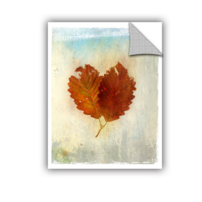 Brushstone Leaf III Removable Wall Decal