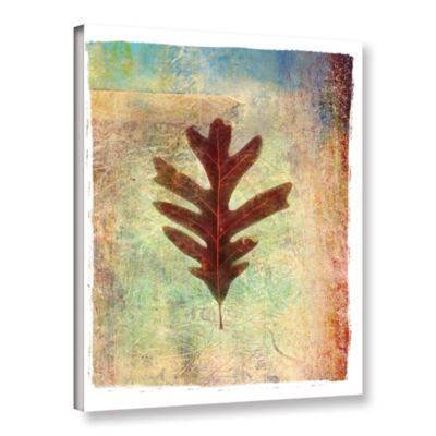 Brushstone Leaf VI Gallery Wrapped Canvas Wall Art