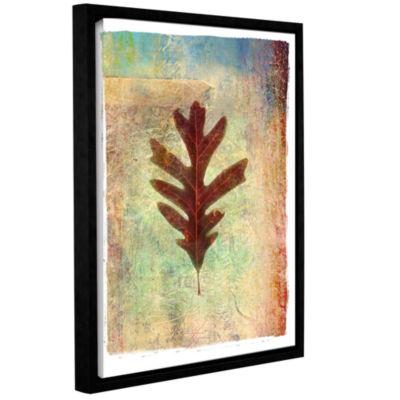 Brushstone Leaf VI Gallery Wrapped Floater-FramedCanvas Wall Art