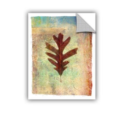 Brushstone Leaf VI Removable Wall Decal