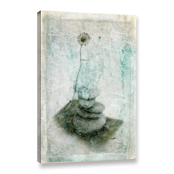 Brushstone Leaf Iv Gallery Wrapped Canvas Wall Art
