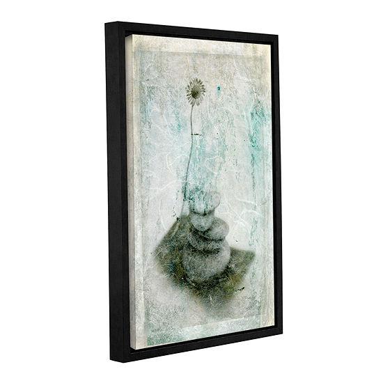 Brushstone Leaf Iv Gallery Wrapped Floater-Framed Canvas Wall Art