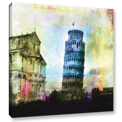 Brushstone Leaning Tower Of Pisa Gallery Wrapped Canvas Wall Art