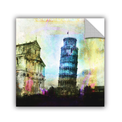Brushstone Leaning Tower Of Pisa Removable Wall Decal