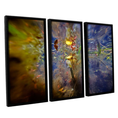 Brushstone Lake Hope Abstract #1 3-pc. Floater Framed Canvas Wall Art