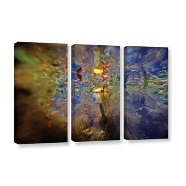 Brushstone Lake Hope Abstract #1 3-pc. Gallery Wrapped Canvas Wall Art