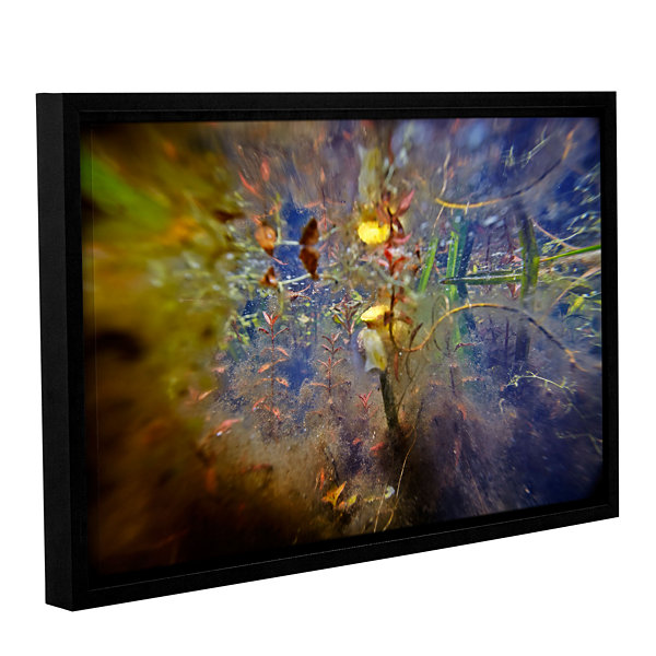 Brushstone Lake Hope Abstract #1 Gallery Wrapped Floater-Framed Canvas Wall Art