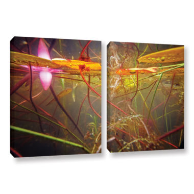 Brushstone Lake Hope Abstract #2 2-pc. Gallery Wrapped Canvas Wall Art