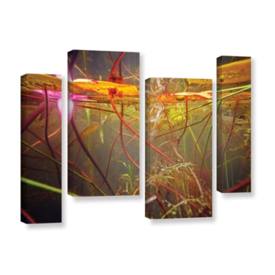 Brushstone Lake Hope Abstract #2 4-pc. Gallery Wrapped Staggered Canvas Wall Art