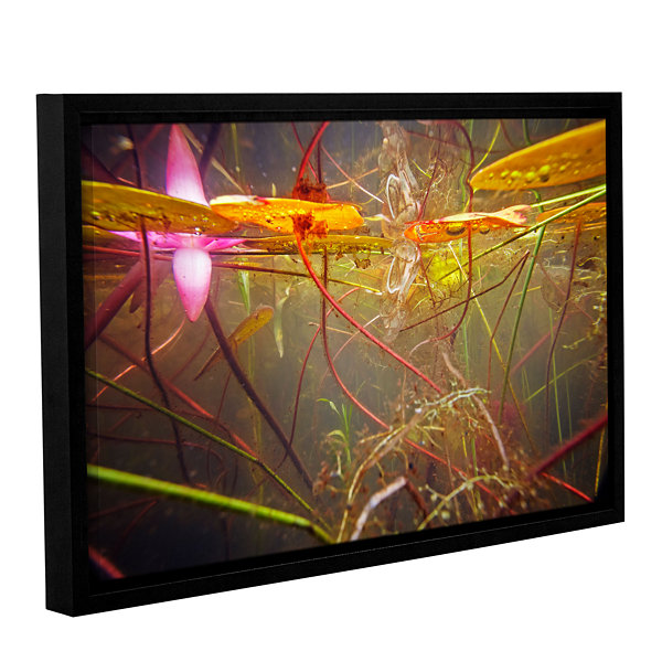 Brushstone Lake Hope Abstract #2 Gallery Wrapped Floater-Framed Canvas Wall Art