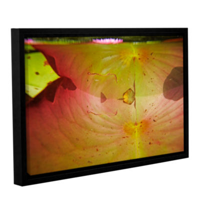 Brushstone Lake Hope Abstract #3 Gallery Wrapped Floater-Framed Canvas Wall Art